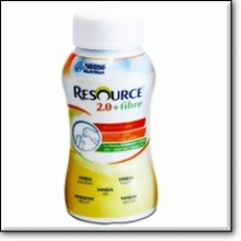 RESOURCE 2.0+fibre Vanille 4x200ml